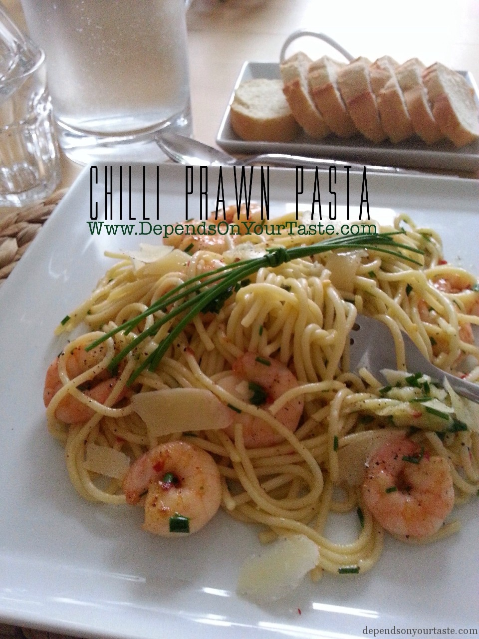 chilli prawn pasta, recipe for pasta , photography wioletta walas , prawns ,