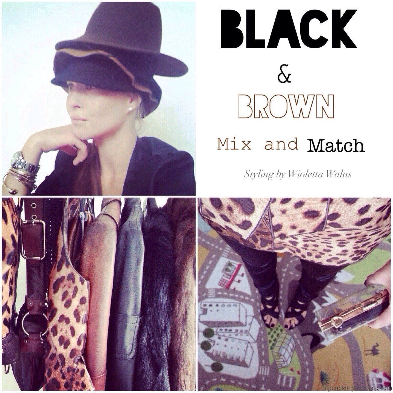 Mix & Match. Black and Brown.