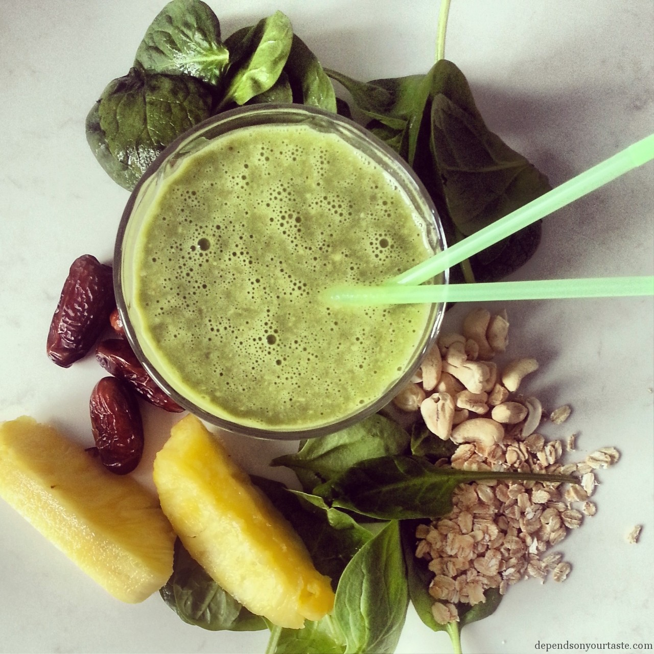 green smoothie , healthy breakfast ,5 a day