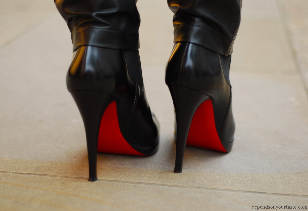 christian louboutine black boots