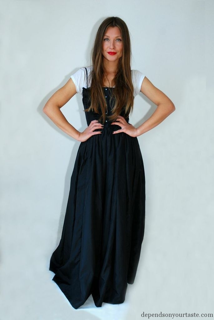 Long black dress, Snow White , fashion