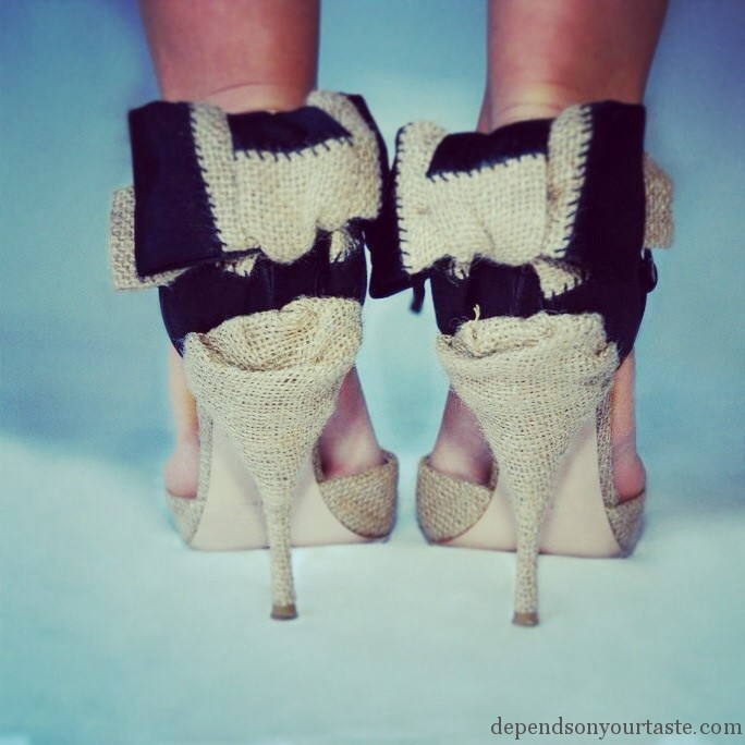 Miu miu hight heels whit bow , miu miu shoes
