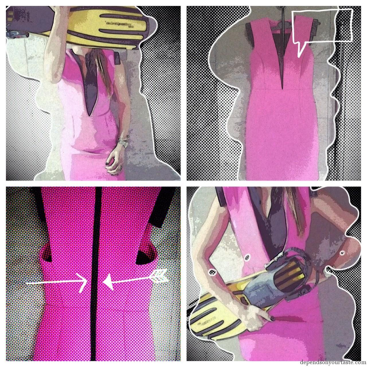 asos scuba pink dress,
