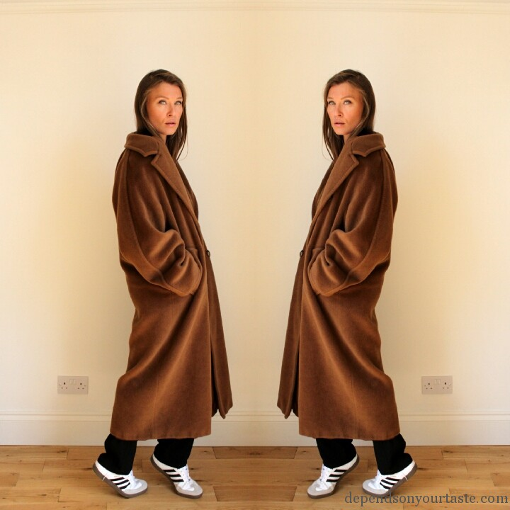 max mara tabaco coat , max mara classic coat , adidas isabel marant, trend whit trainers , fresch look, update your wordrobe, trend winter 2014, 2015, stylist london ,styling by wioletta walas, depends on your taste, kim kardashian maxmara coat, camel coat .